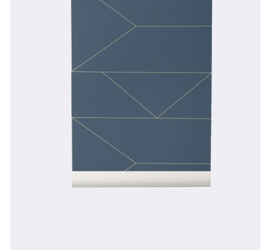 dunkelblaue Linien Tapete # 171