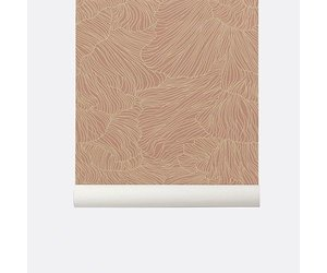 Behang Ferm Living : Ferm living patroon behang coral dustyrose beige nordic living