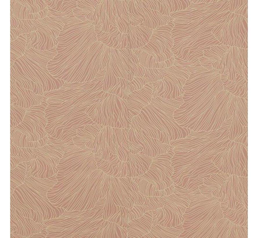 patroon behang Coral Dustyrose beige