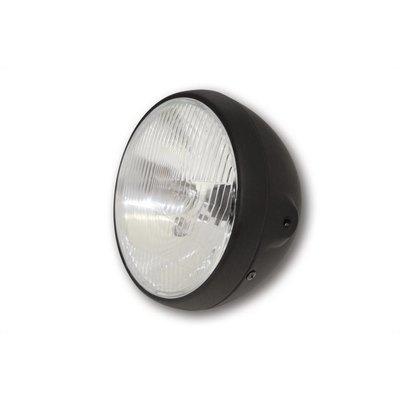 "Shin Yo 7"" British Style Cafe Racer Flat Black Headlight"