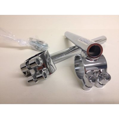 "7/8"" or 22MM Chrome Fehling Cafe Racer Clipons / Clip Ons Tüv"