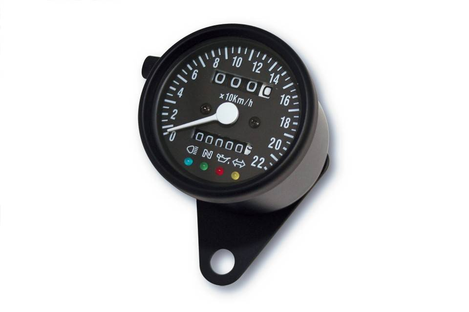 Black Speedometer With 4 Function Lights