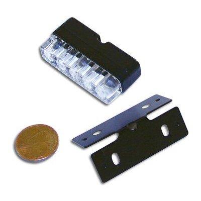 Shin Yo MINI LED-Nummernschildbeleuchtung in Schwarz mit 3 LEDs und Halter