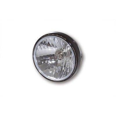"""7"""" Reno 2 Hauptscheinwerfer mit LED Positionsleuchte im Lampenring Schwarz"""