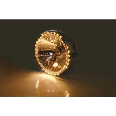 """7"""" Reno 2 Hauptscheinwerfer mit LED Positionsleuchte im Lampenring Verchromt"""