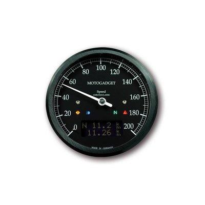 Motogadget Chronoclassic Speedo 0-200 km/h Schwarz