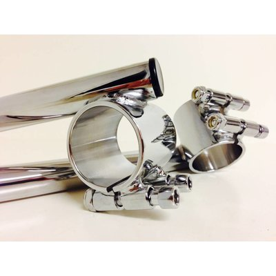 "41MM 1"" or 25.4MM Chrome Cafe Racer Clipons"