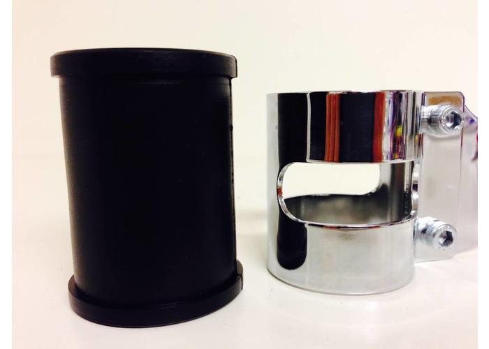 43 - 47MM Lampenhalter mit Vibrationsgummi Verchromt