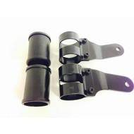 Pair of 38 - 42mm Headlight Brackets Black