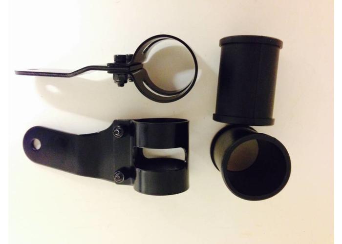 53 - 57MM Lampenhalter mit Vibrationsgummi Schwarz