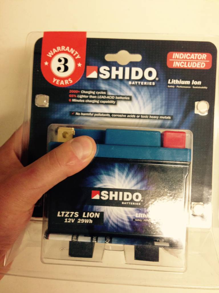 Shido Ytz7 S Lithium Ion Battery Caferacerwebshop Com