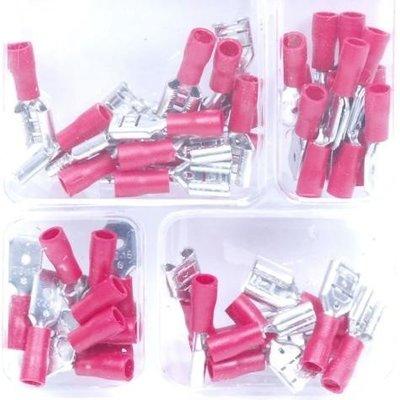 Kit de connecteurs de câble rouges - 50 pièces