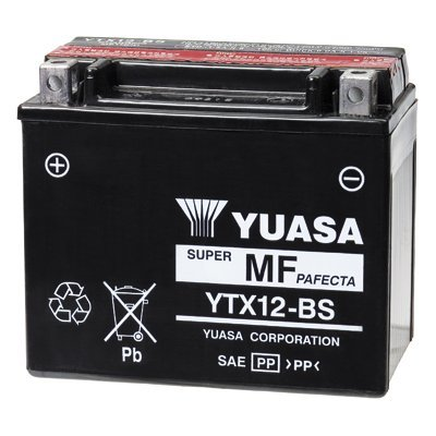 Maintenance Free Yuasa YTX12-BS Battery