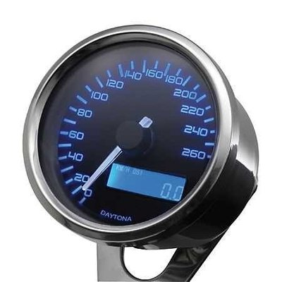Daytona Digitaler Speedo 260km/h Chrome