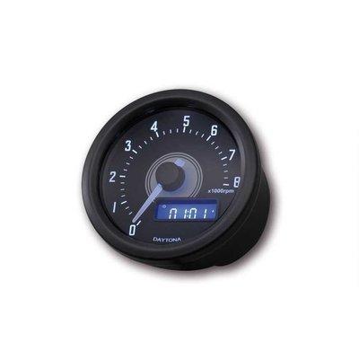 8.000 RPM DAYTONA Drehzahlmesser Velona Schwarz