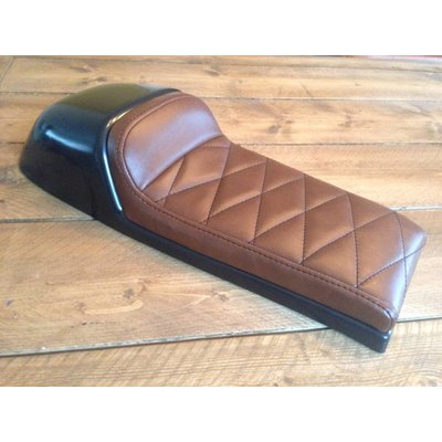 Cafe Racer Seat Diamond Stitch Chocolat Brown Type 39