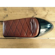 Cafe Racer Seat Diamond Stitch Chocolat Brown Type 40