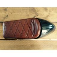 Cafe Racer Seat Diamond Stitch Chocolat Brown Type 40