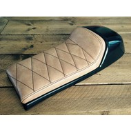 Cafe Racer Seat Diamond Stitch Vintage Brown Type 23
