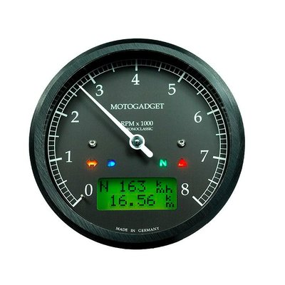Motogadget Chronoclassic Tacho Black 10.000 RPM