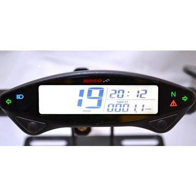 KOSO DB EX-02 Digitaler Tachometer schwarz