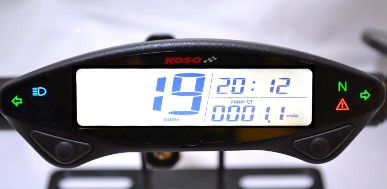 Koso Db Ex 02 Digital Speedometer Caferacerwebshop Com