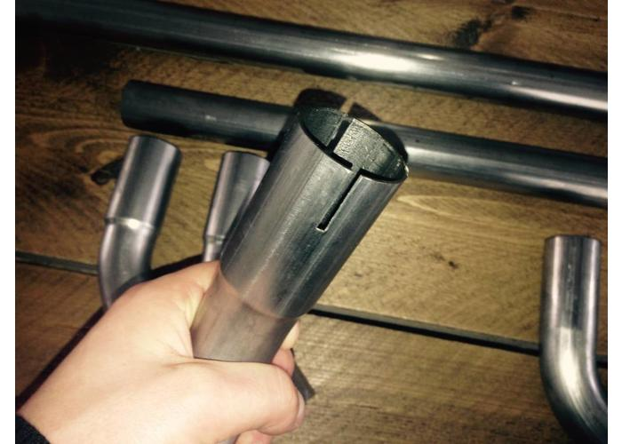 38MM DIY Auspuff Rohr Kit Edelstahl