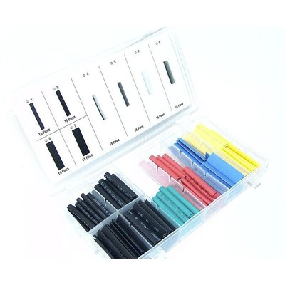 Assortiment de gaines thermorétractables colorées (120 pc)