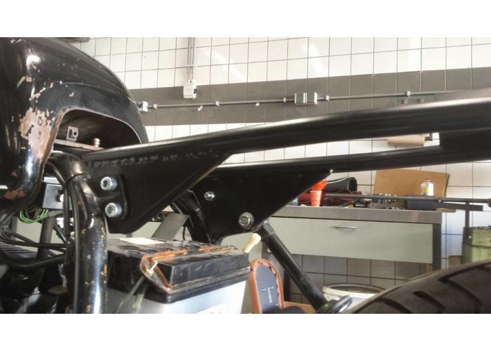 BMW R65 R80 R90 Subframe Monoshock Coated Chromoly