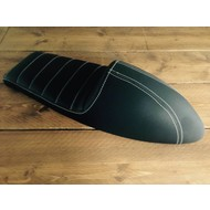Upholstered Cafe Racer Seat Tuck N' Roll Stitch Black Type 45
