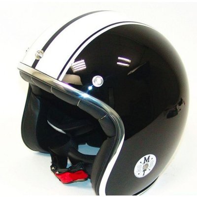 MT Helm Jet-Helm Le Mans Schwartz/Weiss
