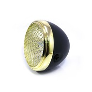 "7.7"" Scrambler Headlight Brass & Black"