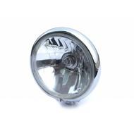 "5.75"" Classic Chrome Headlight with Bottom Mount"