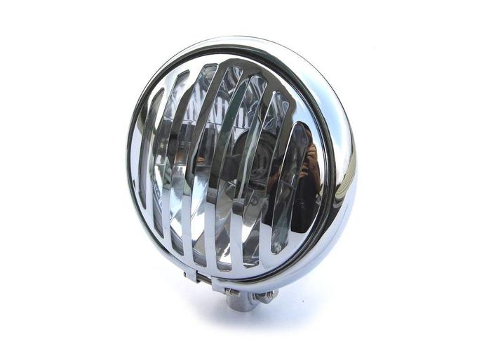 "5.75"" Chopper Grill Scheinwerfer Chrome"