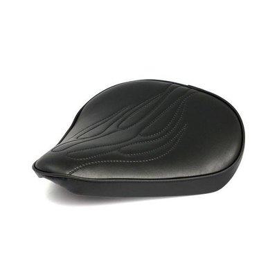Bobber Seat Flames Black