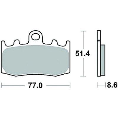 TRW Bremsbelagsatz MCB748SV