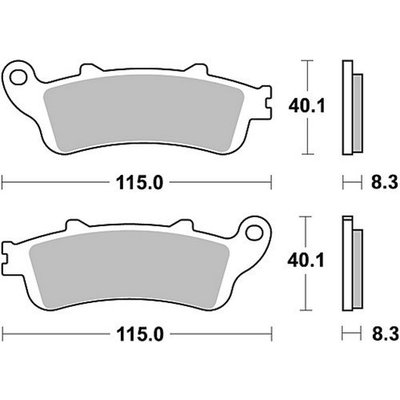 Bremsbelagsatz MCB705SH