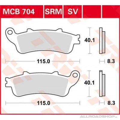 TRW Bremsbelagsatz MCB704SV