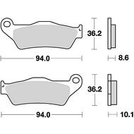 Brake Pad Set MCB707SH