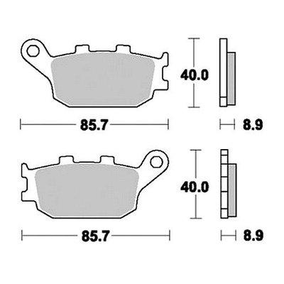 TRW Bremsbelagsatz MCB634SH