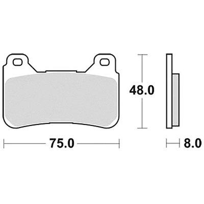 TRW Bremsbelagsatz MCB755SV