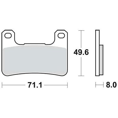 Brake Pad Set MCB752SV