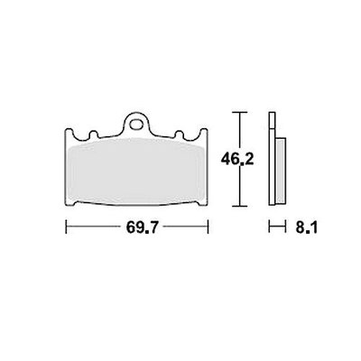 Bremsbelagsatz MCB602SV