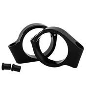 Motone Wrap-Around Fork Indicator Turn Signal Bracket Clamps - Pair - 41mm - Black