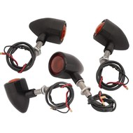 Motone Custom Billet Indicator Turn Signals - Set of 4 - Black