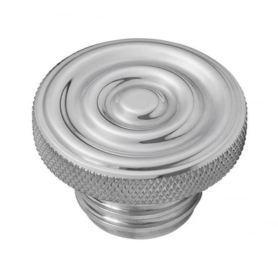 Motone Custom Fuel Gas Cap - Billet Aluminium - Rippled