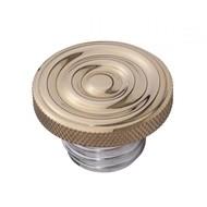 Motone Kundenspezifische Kraftstoff-Gas-Kappe - Messing gewellte Oberseite - Aluminiumgewinde - gewellt