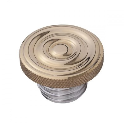 Motone Custom Fuel Gas Cap - Brass Rippled Top - Aluminium Thread - Rippled