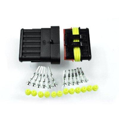 Motogadget Connecteur à 6 broches Supersealed style AMP, kit complet