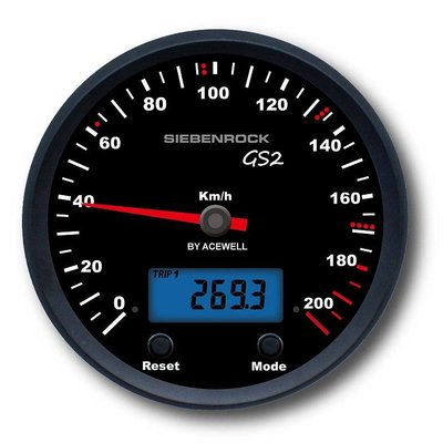 Speedometer GS2 for R 80 G/ S R 80 / 100 GS up to 9/90, R 80 GS Basic ''Plug and Play'' MPH Version